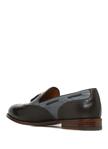 Barrett %100 Deri Loafer Ayakkabı Mavi
